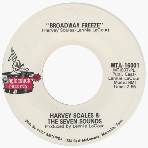 Broadway Freeze by Harvey Scales & The Seven Sounds single label