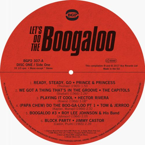 Let's Do The Boogaloo LP Side A