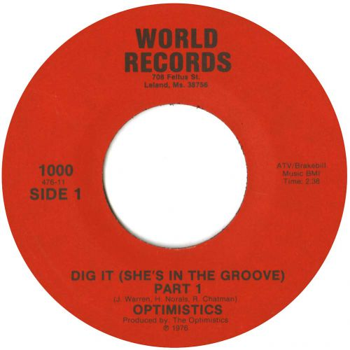 The Optimistics 'Dig It (She's In The Groove)' courtesy of Dean Rudland
