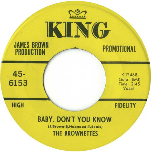 The Brownettes 'Baby, Don't You Know'