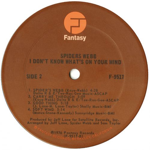 I Don't Know What's On Your Mind LP label courtesy of Dean Rudland