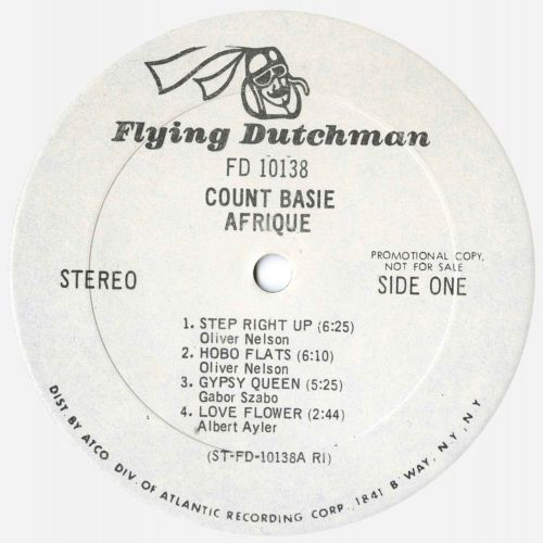 Count Basie 'Afrique' LP label side 1