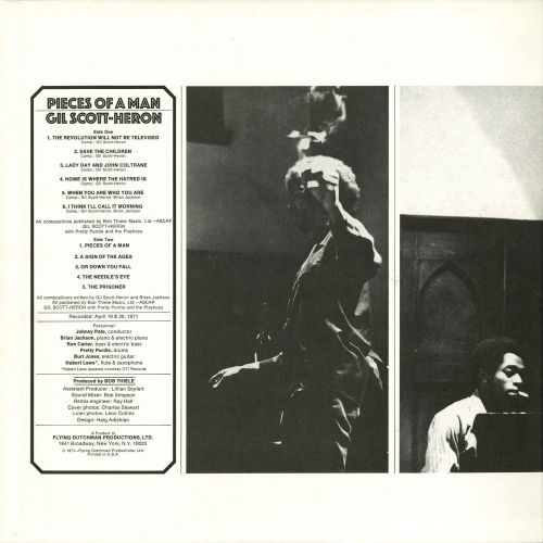 Gil Scott-Heron 'Pieces Of A Man' LP inner 1