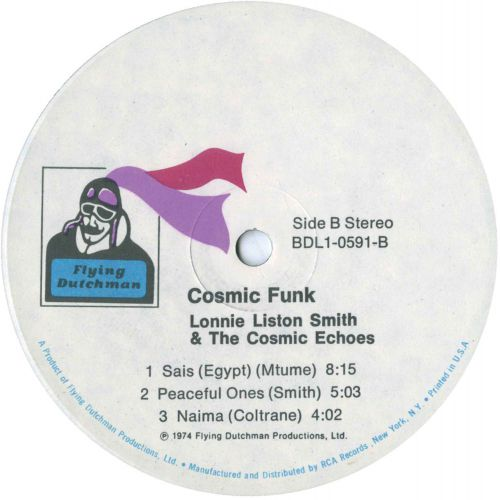Cosmic Funk LP label side 2