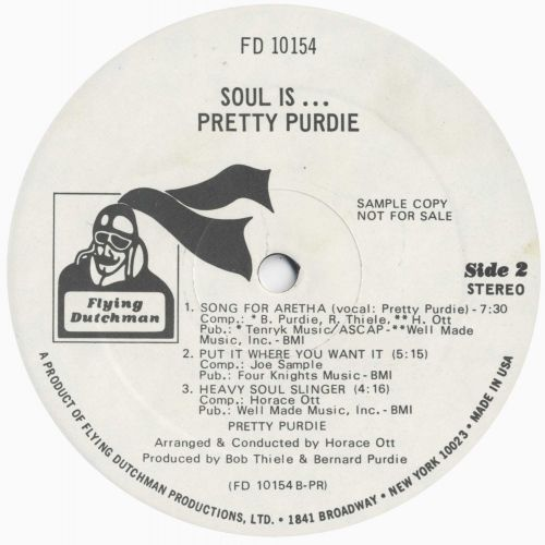 Soul Is LP label side 2