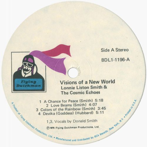 Visions Of A New World LP label side 1