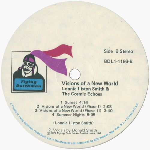 Visions Of A New World LP label side 2