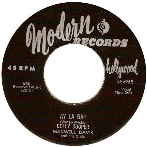 Dolly Cooper 'Ay La Bah' courtesy of Vicotr Pearlin
