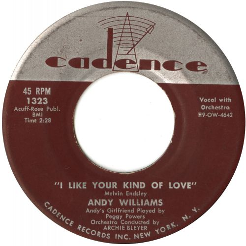Andy Williams 'I Like Your Kind Of Love' courtesy of Vicki Fox