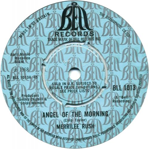 Merrilee Rush 'Angel Of The Morning' courtesy of Phil Chapman