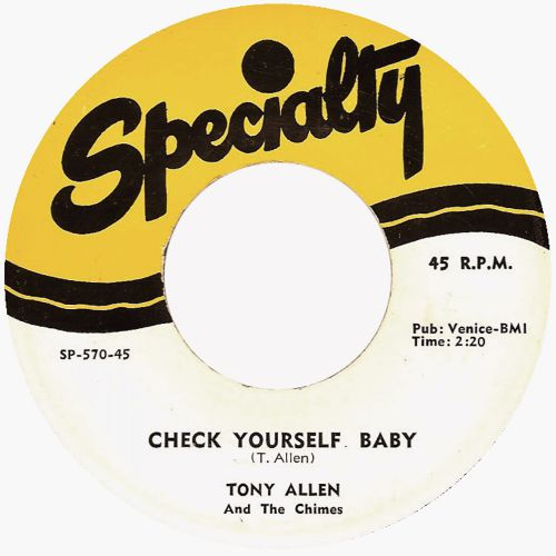 Tony Allen 'Check Yourself Baby' courtesy of Peter Vacher