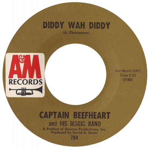 Captain Beefheart & His Magic Band 'Diddy Wah Diddy' courtesy of Barry Wickham