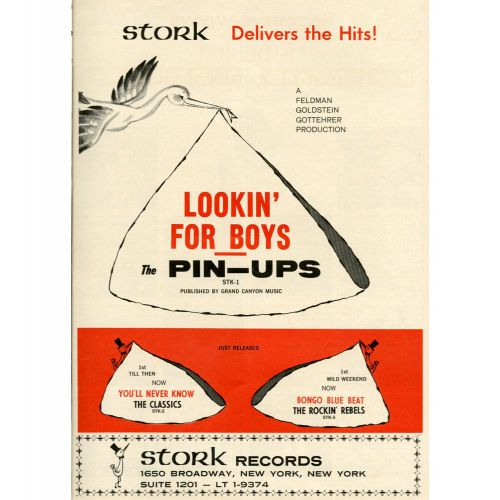The Pin-Ups 'Lookin' For Boys' advert