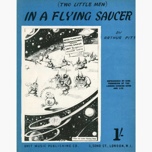 'In A Flying Saucer' song sheet