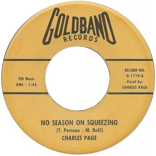 Charles Page 'No Season On Squeezing'