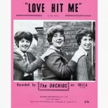 The Orchids 'Love Hit Me' songsheet