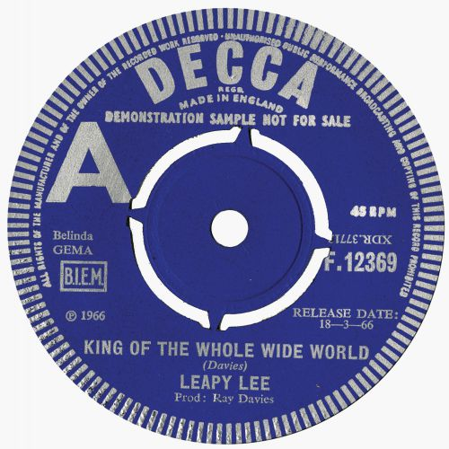 Leapy Lee 'King Of The Whole Wide World'