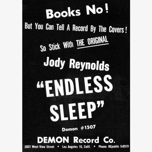 Jody Reynolds advert