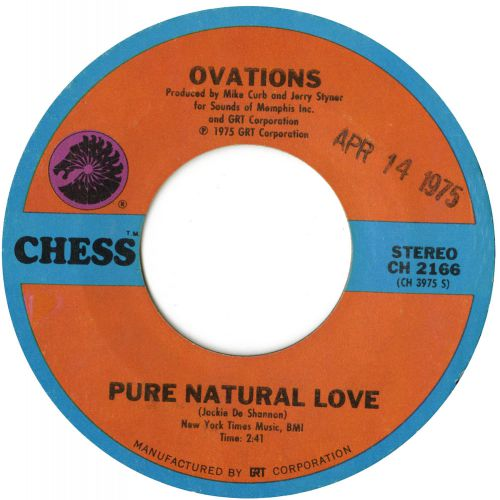 The Ovations 'Pure Natural Love' courtesy of Tony Rounce