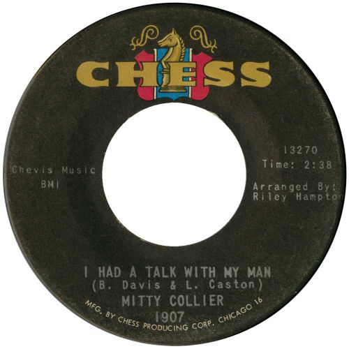 Mitty Collier 'I Had A Talk With My Man' courtesy of Mick Patrick