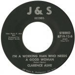Clarence Ashe 'I'm A Working Man Who Needs A Good Woman' courtesy of Peter Gibbon