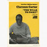 Clarence Carter 'Too Weak To Fight' song sheet