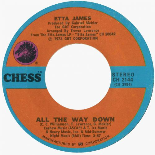 Etta James 'All the Way Down'