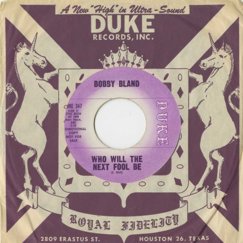 Bobby Bland 'Who Will The Next Fool Be?'