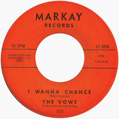 The Vows 'I Wanna Chance'