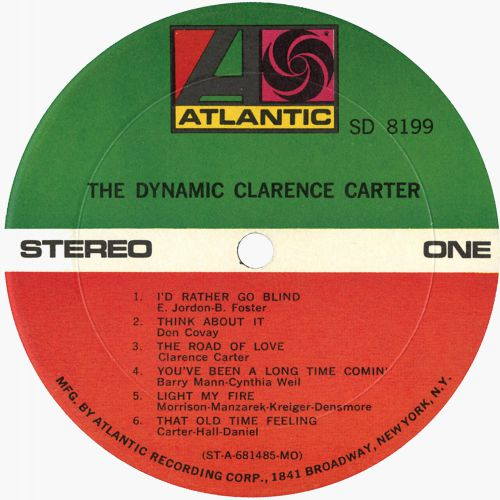 The Dynamic Clarence Carter LP label side 1