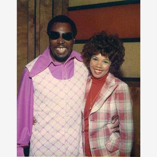 Clarence with Candi Staton photo courtesy Fame Records