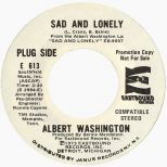 Sad And Lonely LP label