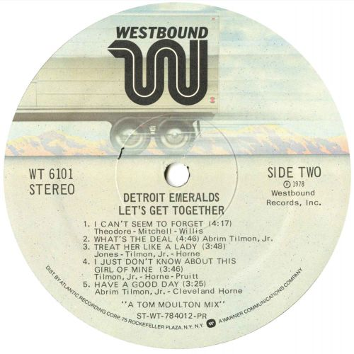 The Detroit Emeralds 'Let's Get Together' LP label side 2