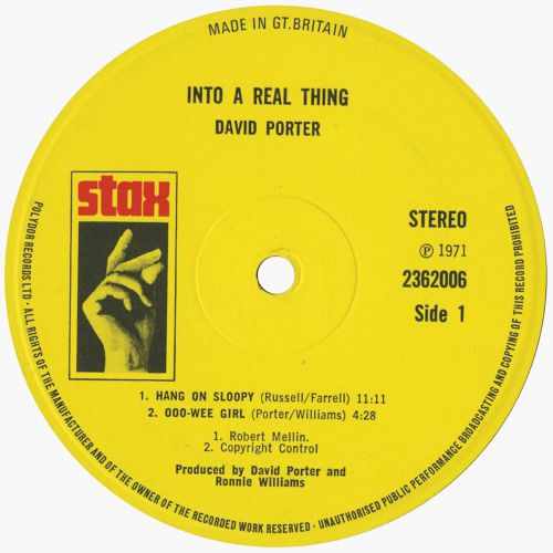 David Porter '...Into A Real Thing' side 1