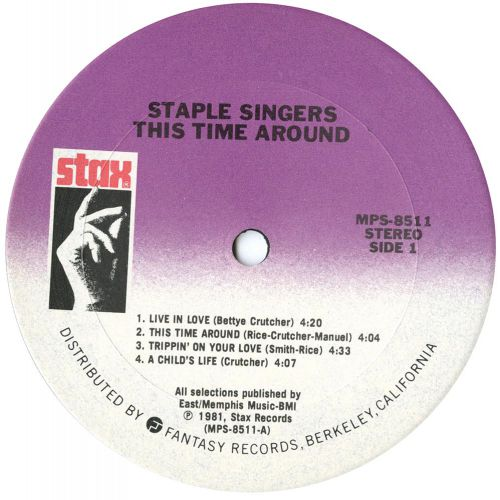This Time Around LP label side 1