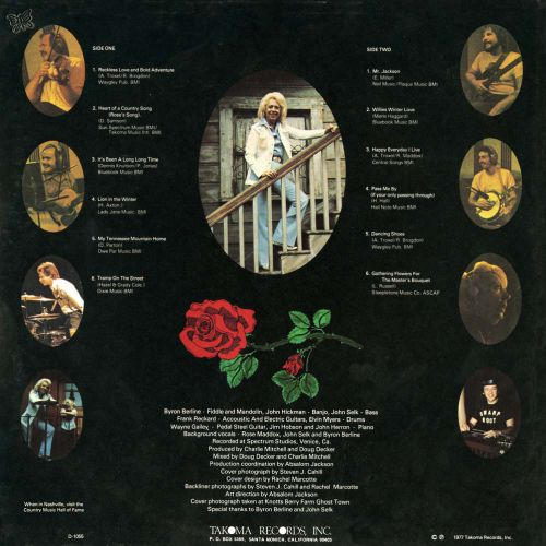 Rose Maddox 'Reckless Love & Bold Adventure' LP back cover