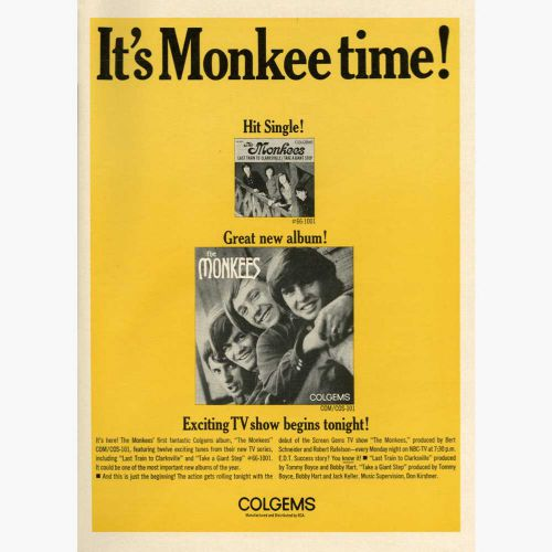 It's Monkee time! advert