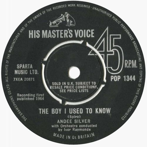 'The Boy I Used to Know' POP 1344