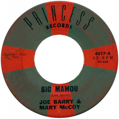 Joe Barry & Mary McCoy 'Big Mamou'