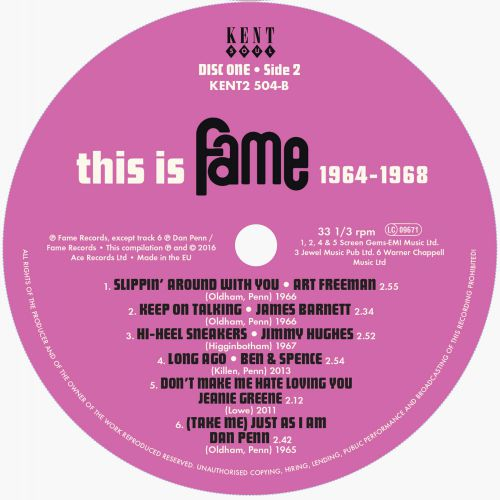 This Is Fame 1964-1968 side 2