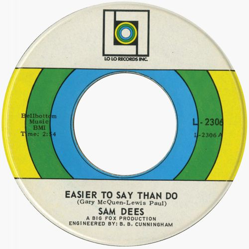 Sam Dees 'Easier To Say Than Do'