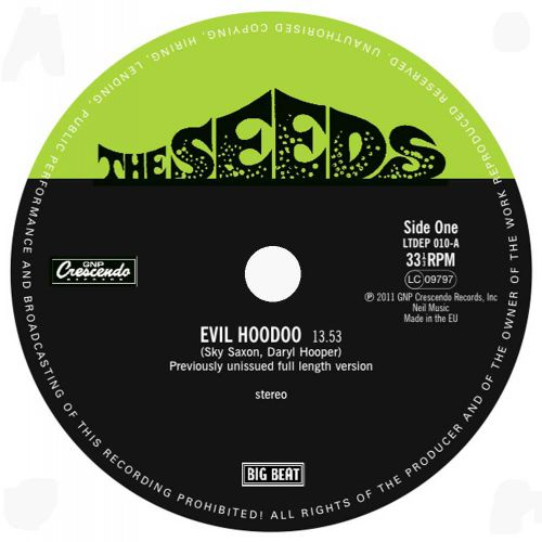 Evil Hoodoo 13+53 LP label side 1