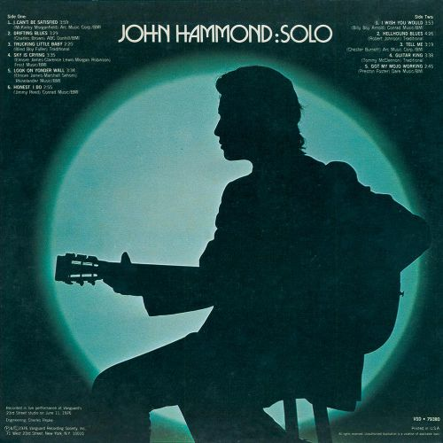 Solo LP sleeve back
