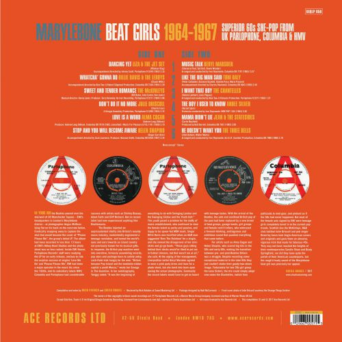 Marylebone Beat Girls  LP Back