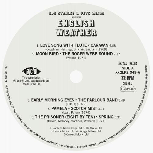 Bob Stanley And Pete Wiggs Present English Weather side 1