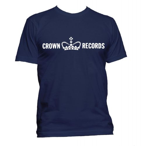 Crown Records 'Crown' T Shirt Navy [32]