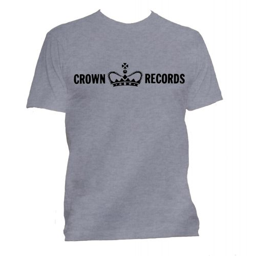Crown Records 'Crown' T Shirt Sport Grey [95]