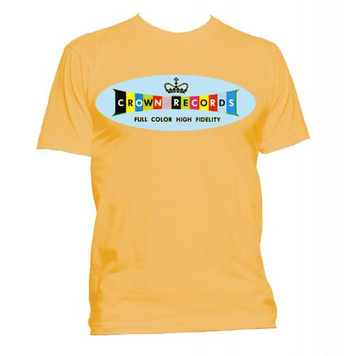 Crown Records 'Lozenge' T Shirt Gold [24]