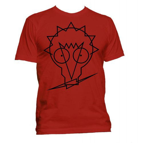 Johnny Moped Logo T Shirt Red [40]