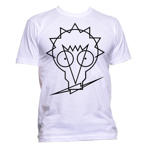 Johnny Moped Logo T Shirt White [30]